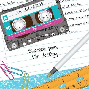 Album cover for Von Hertzog's Sincerely Yours, which will be released on May 19. Photo Credit: Von Hertzog.