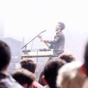 Geographer performing in recent months at Club NOKIA in Los Angeles. Photo Credit: Mallory Turner.