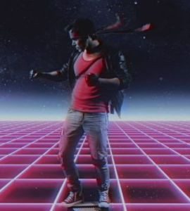 Screenshot of a time travel sequence from 'Kung Fury.' Photo Credit: Laser Unicorns.