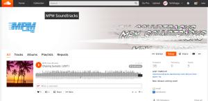 Screenshot of SoundCloud.