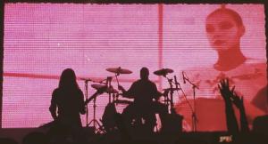 Screenshot of a Carpenter Brut show in Russia.